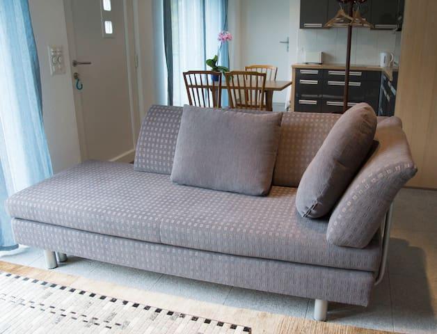 Couch kann als Doppelbett genutzt werden