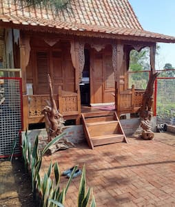 Lembah Paniisan  Deer farm, ethnic wooden house