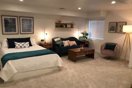 A Comfy Basement, just 3 minutes from the freeway