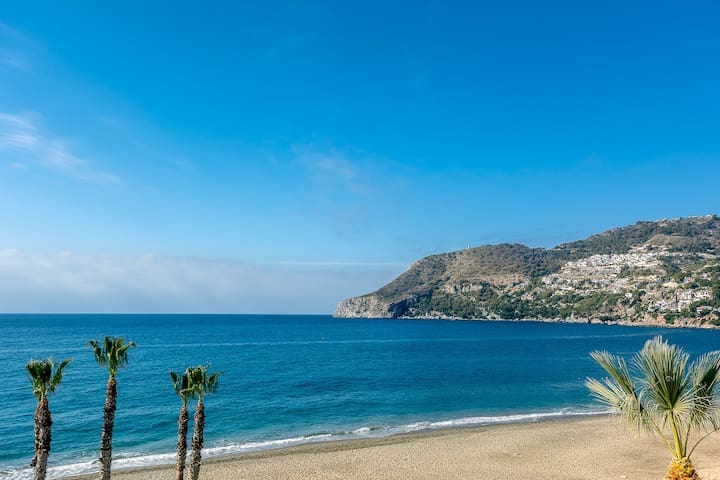 Frontline apartment in La Herradura bay