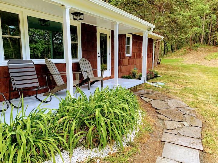 3Br Hilltop Ranch on 130acre farm w/ falls & creek