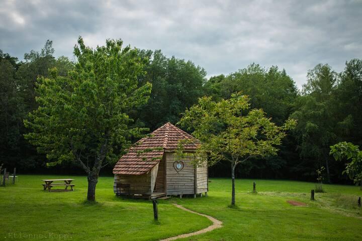 La cabane bois des 3 petits cochons - Claudon - Cabaña