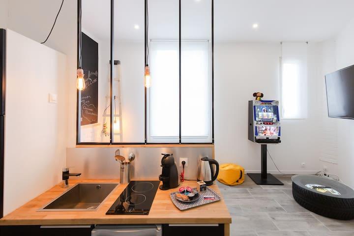 Loft studio atelier design à 10 minutes centre