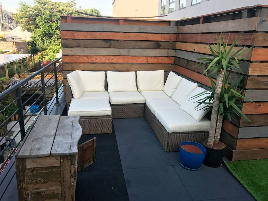Seating on our private patio