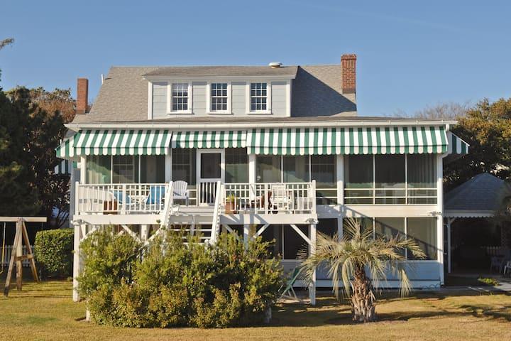 Classic beachfront home w/WiFi, private grill, and private dune path!