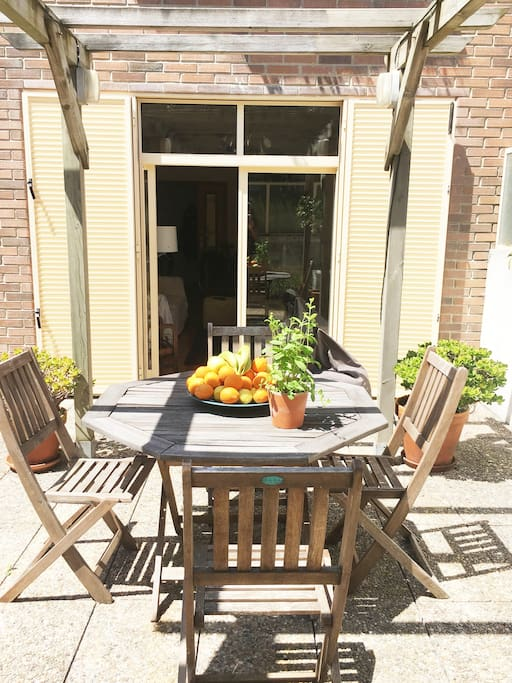 Sunny terrace where you can sunbath, have your meals, read or just relax...
