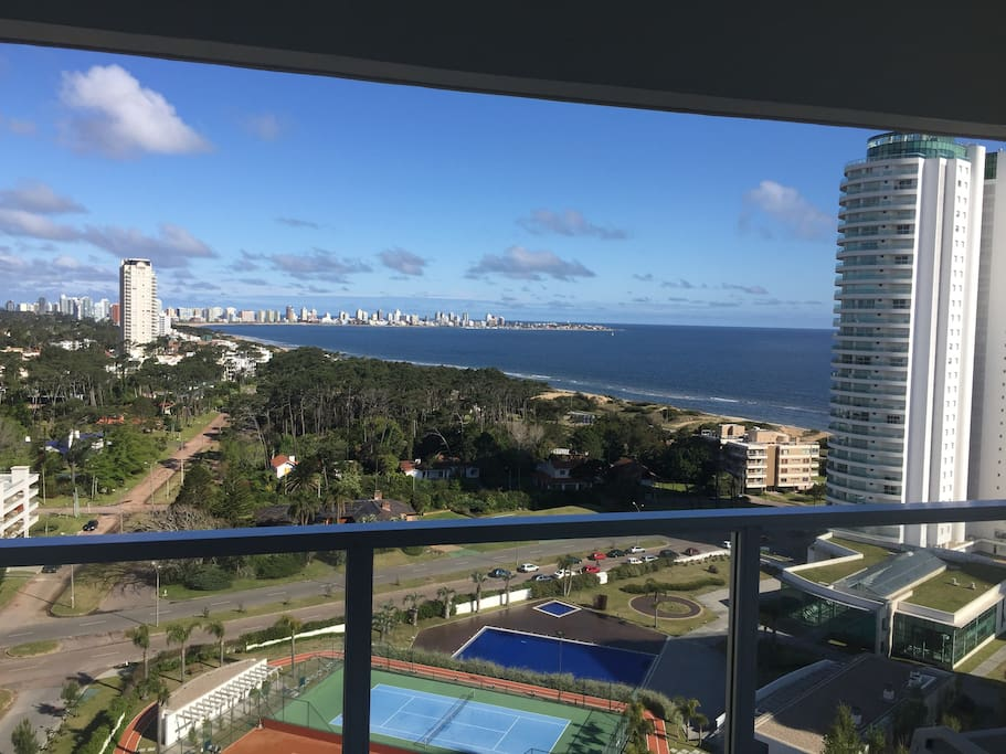 View of Punta del Este Penisnula from balcony and living room
