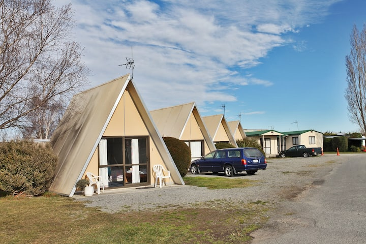 Biking and camping Rangiora Holiday park