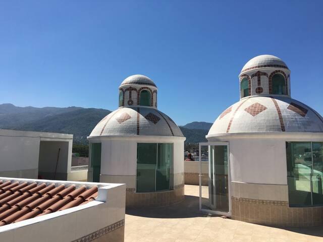 Rooftop patio