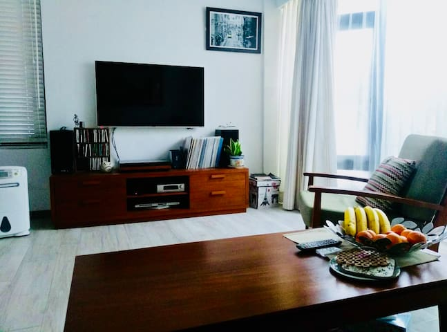 Double Room with Family Taipei 優雅私人別墅雙人房 含廚房中島 客廳