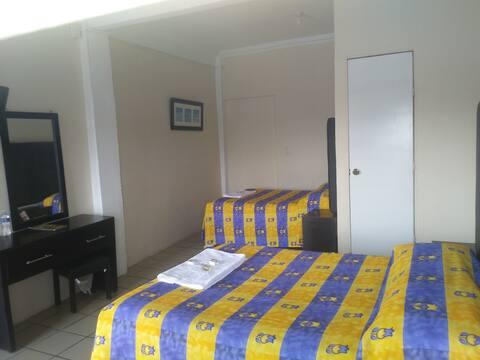Habitaciones dobles, recomendado para familias.