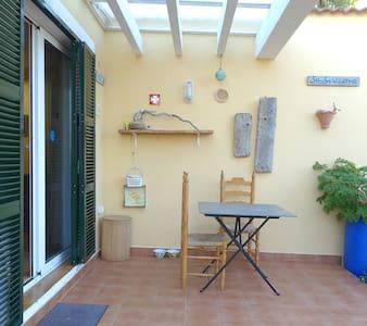 Apto con jardin y piscina Menorca - Cap d'Artrutx - Apartamento