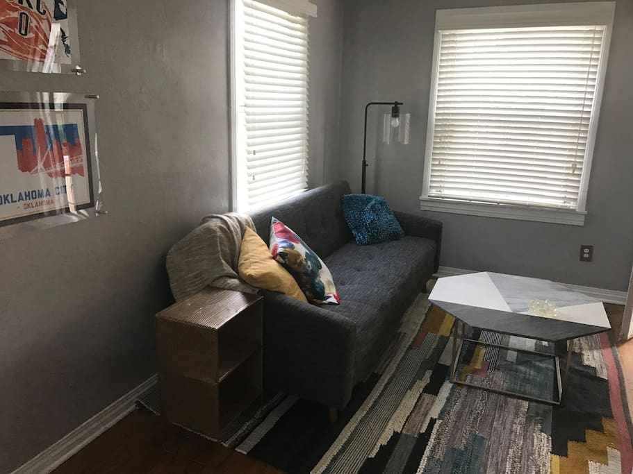 Sleeper sofa in living room