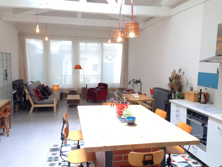 Amazing architect designed loft paris anvers 70m2 lofts louer paris l - Achat loft ile de france ...