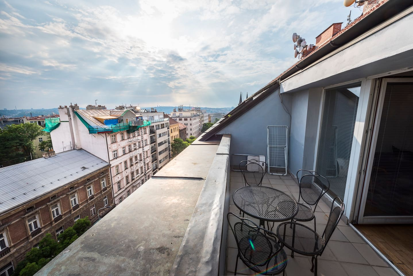 View from the terrace, Prague castle in the background