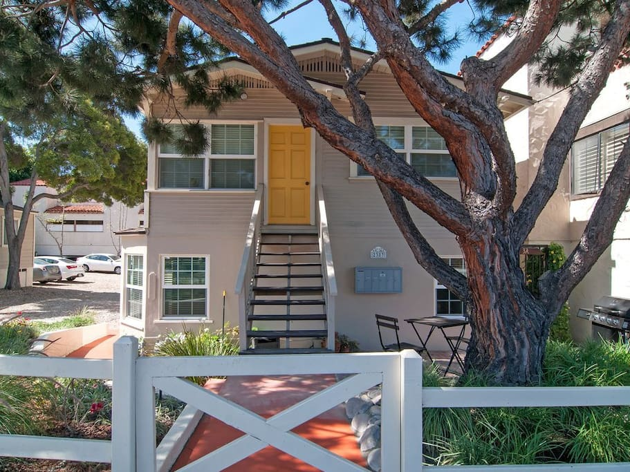 Yard / Upper Patio Entrance -The apartment is located in the heart of Old Town – Birthplace of California