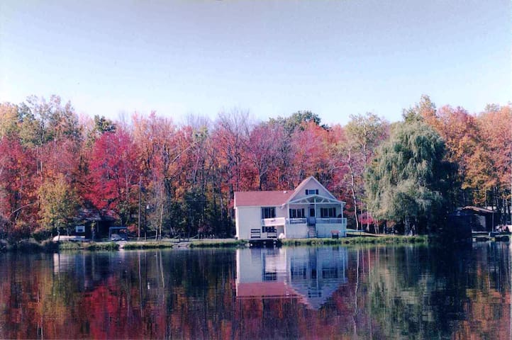 Poconos Lakefront with Private Beach - Tobyhanna Township