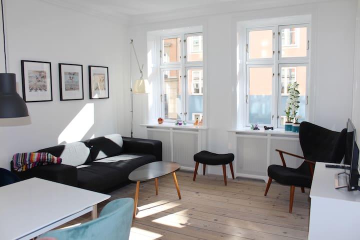 Cosy apartment w. balcony in  Vesterbro Copenhagen