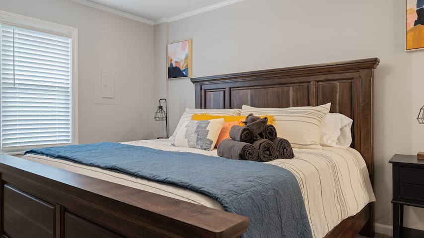 Master bedroom equipped with king bed and all the amenities you will need during your stay.