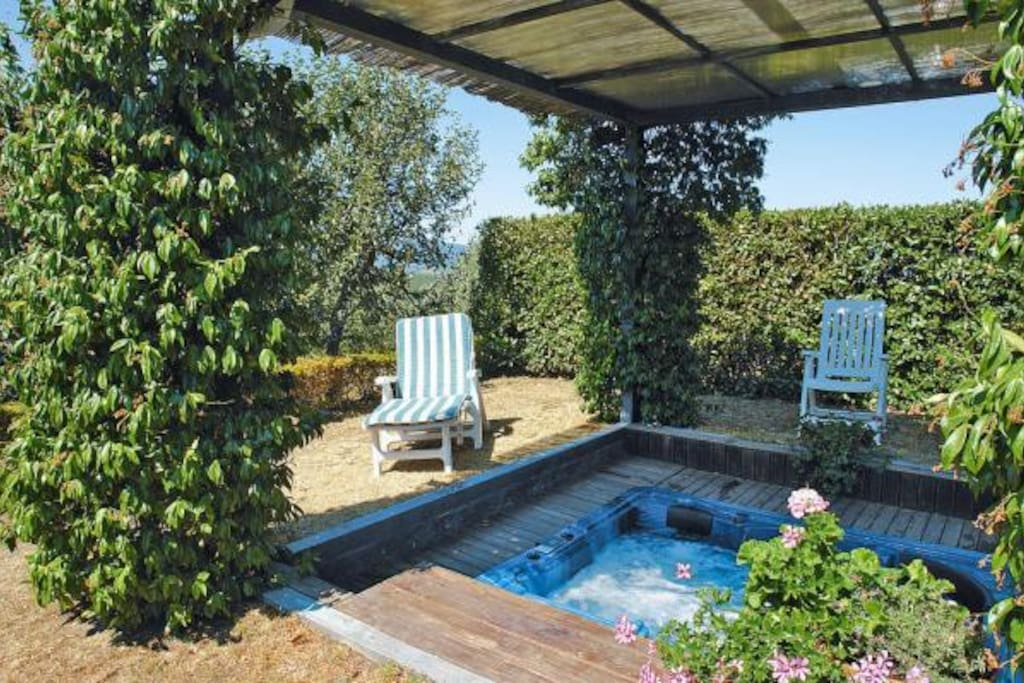 Hot-tub in garden