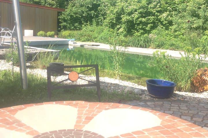 Naturpool im Garten
