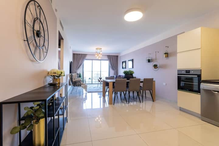 Stylish 2BR/Parking, View Over The Temple Mount