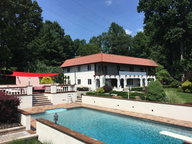 8 acre Estate with 35 mile mountain view of Lake