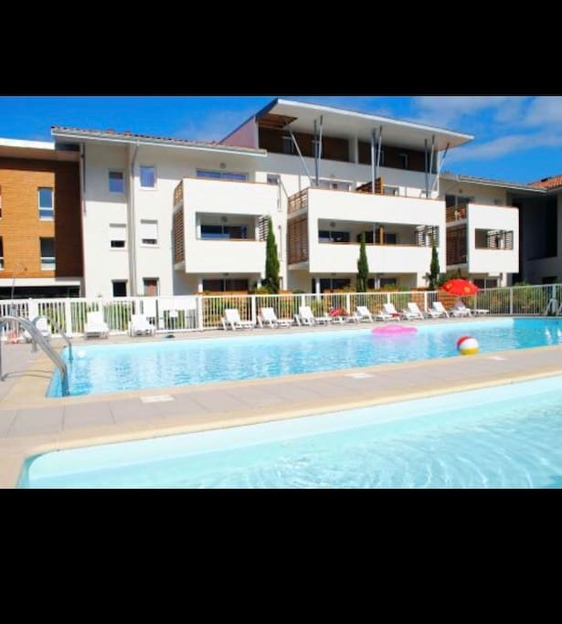 New 3 min de la plage piscine int rieure chauff e - Residence piscine interieure ...