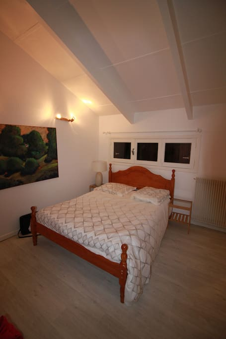 Double bedroom upstairs with direct access to terrace