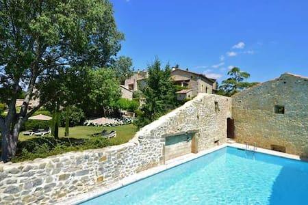Luxus Gästezimmer Iris mit Pool im Provence! - Saint-Just-et-Vacquières - Bed & Breakfast