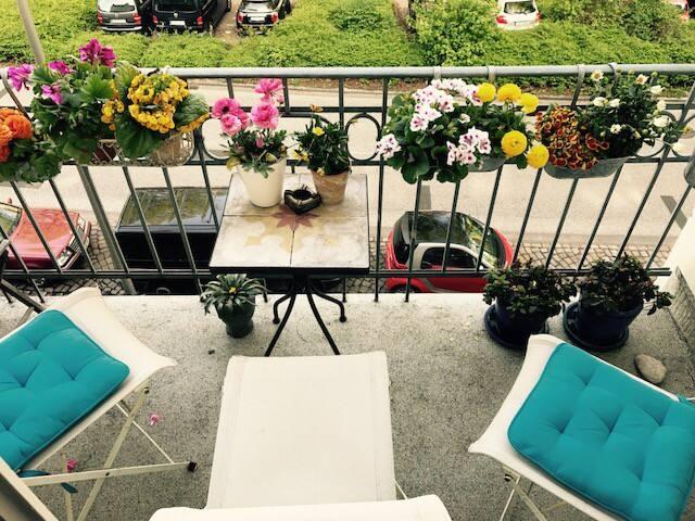 Balkonzimmer in Park- und UKE Nähe