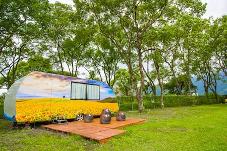 Sweet Trailer(RV)in the grassland 森林精靈露營車!!