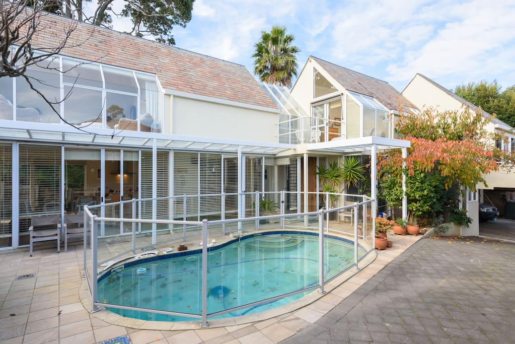 Our home with swimming pool. Welcome to use with outdoor table & lounger.