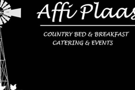 Affi Plaas is a warm loving place ....
