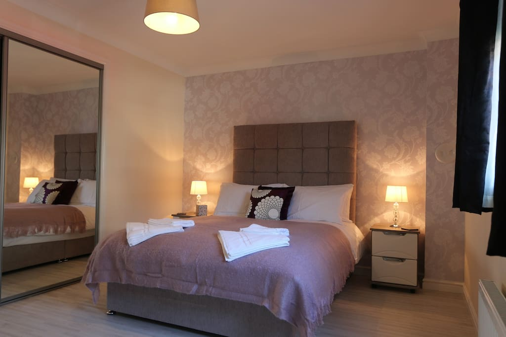 Bedroom 1 with double bed.