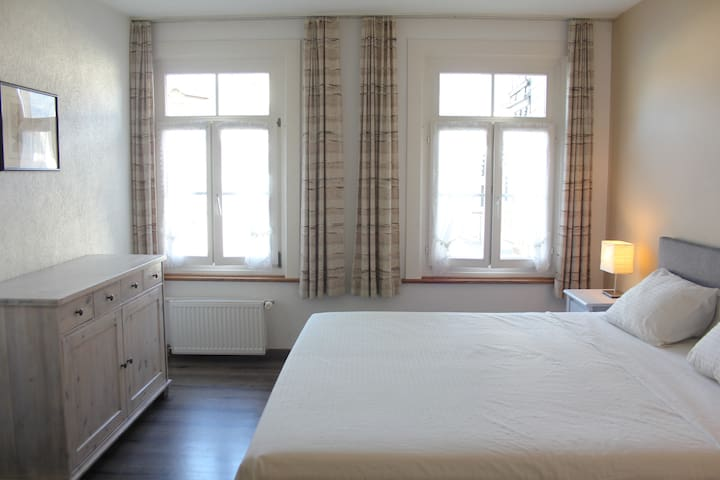 Double room at The Aarburg with great views - Unterseen - Oda + Kahvaltı