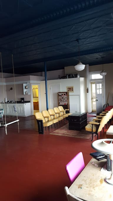 View of the great room & kitchenette