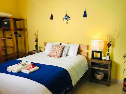 Casa Ohana:Eco home: prywatny pokój/wanna centralna