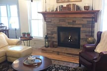 Our comfortable living room is available as needed