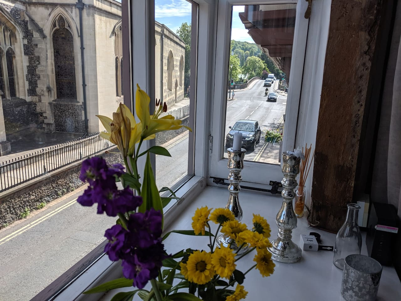 View of Henley Bridge from sitting room
