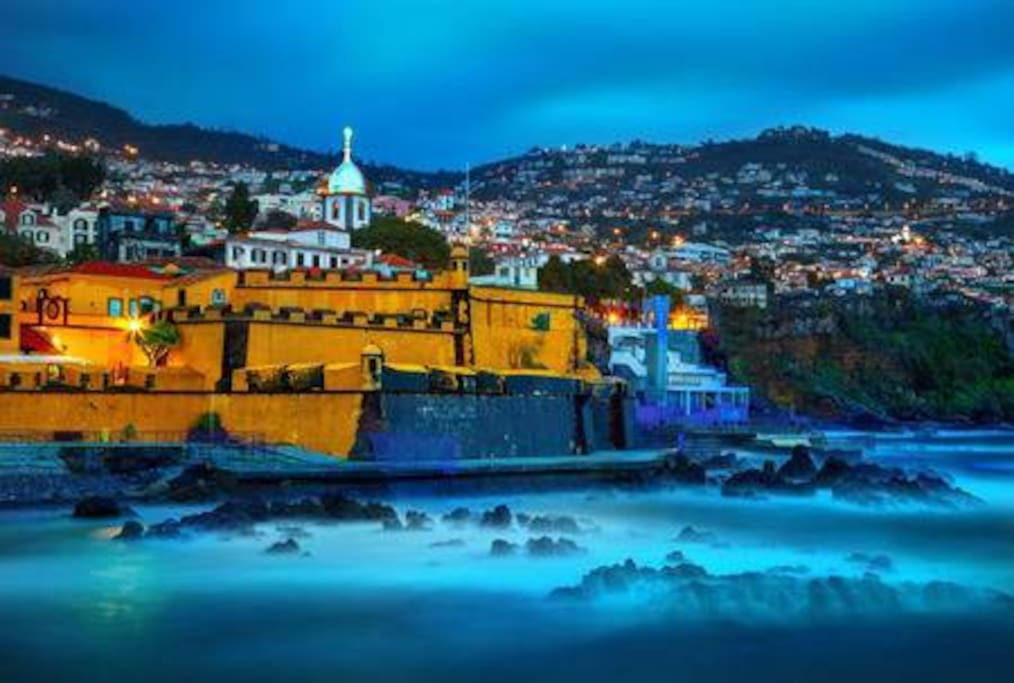 View of old castle Fortaleza de Sao Tiago, Funchal - is 3 minutes by car or 10 minutes walk from the house