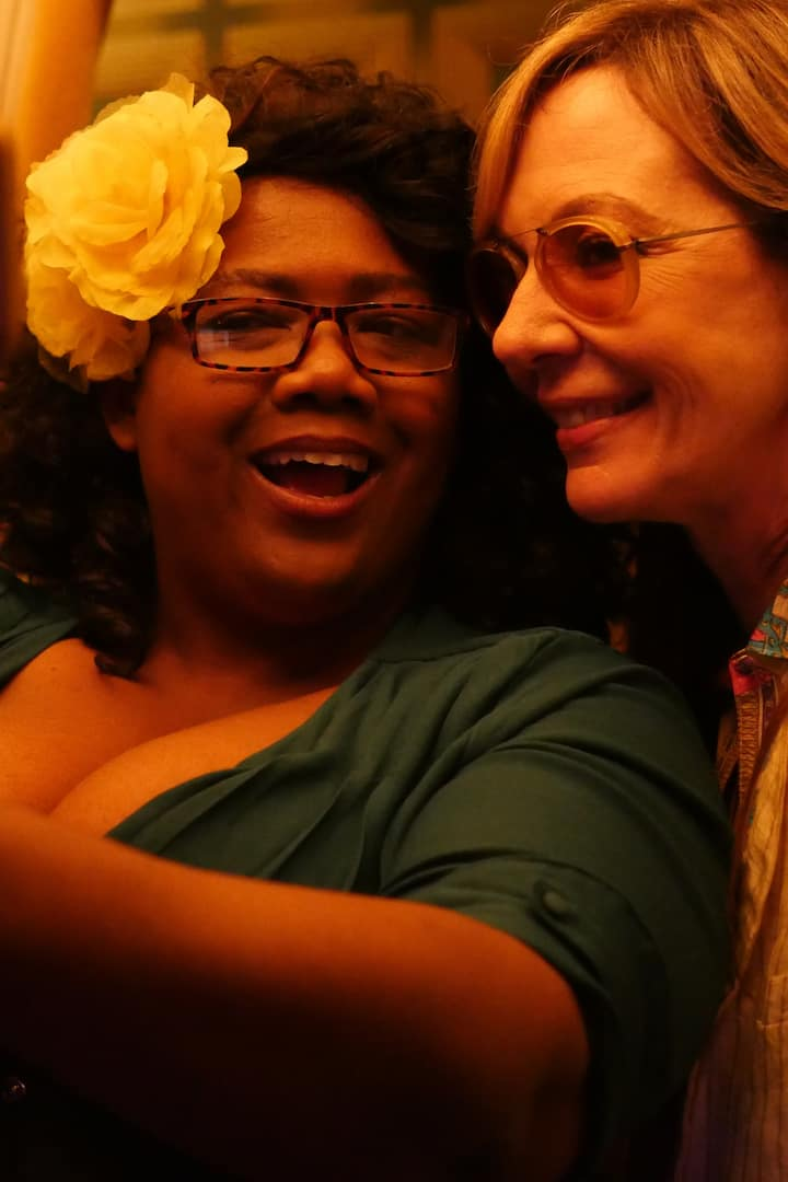 Co-host Amanda with Allison Janney