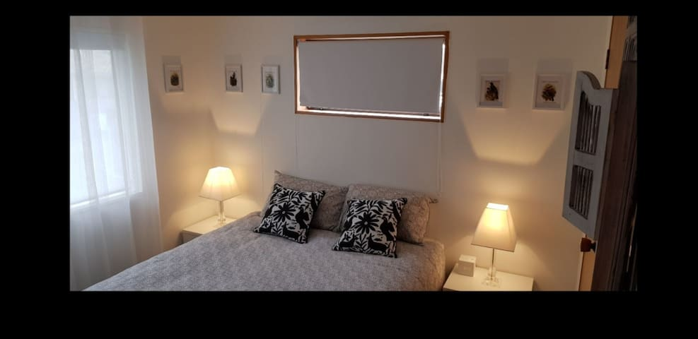 The spacious room catches the morning sun and has its own bathroom, toilet and entrance.