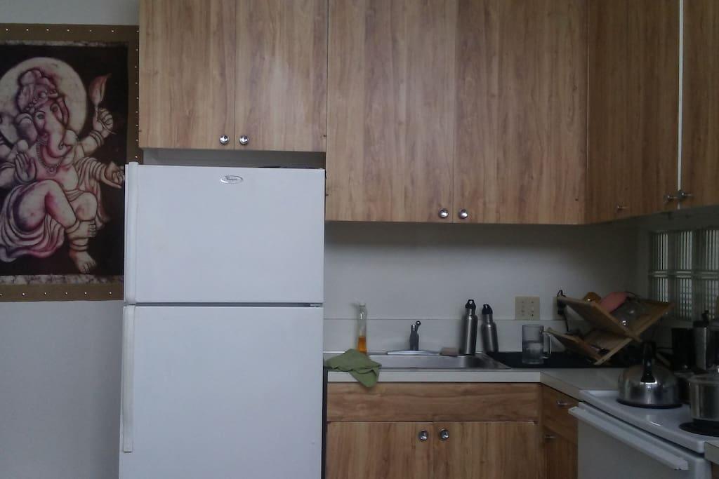 Clean sunny kitchen