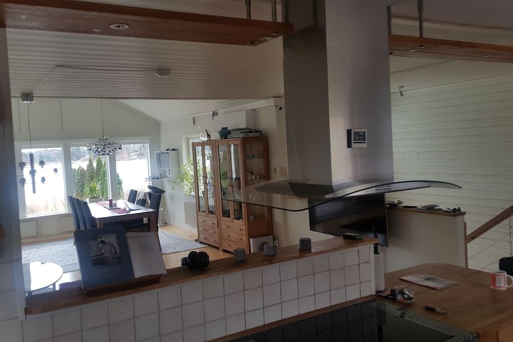 View from the open space kitchen.