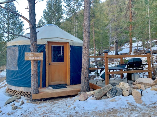 Camp in an Adventure Yurt in the Rocky Mountains