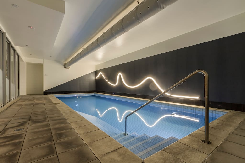 Warm lap pool for relaxing or to refresh yourself after the gym.