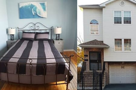 Bedroom 5 * Private Entrance * near NYC & EWR Aprt