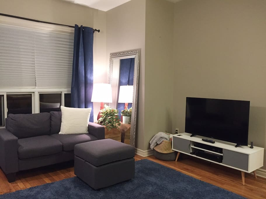 Living space with wifi and cable TV