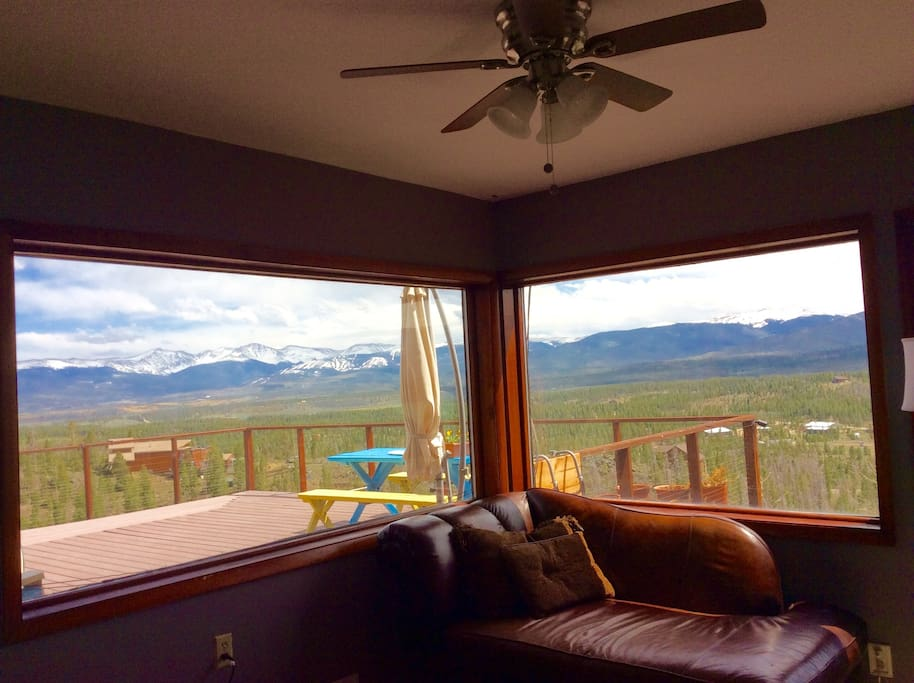 View of Continental Divide and valley from sitting room.
